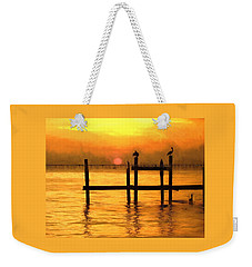 Weekender Tote Bag featuring the photograph Elements by Kathy Bassett