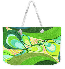 Weekender Tote Bag featuring the drawing Elements by Kim Sy Ok