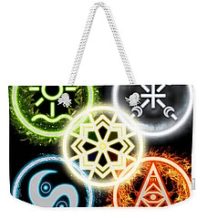 Weekender Tote Bag featuring the digital art Elements Of Nature by Shawn Dall