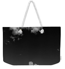 Elephant Butte In Black And White Weekender Tote Bag by David Cote