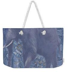 Elephant Facing Left Weekender Tote Bag
