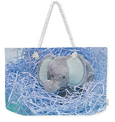 Elephant For Charity Blue Weekender Tote Bag by Terri Waters