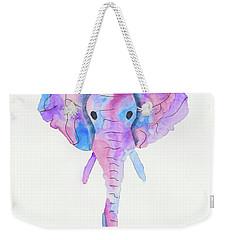 Elephant Head In Watercolour  Weekender Tote Bag