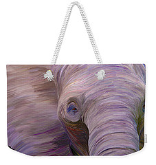 Elephant Weekender Tote Bag by Matt Lindley
