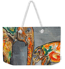 Elephant Play Day Weekender Tote Bag