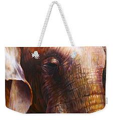 Elephant Empathy Weekender Tote Bag by Vali Irina Ciobanu