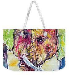 Elephants In Love Weekender Tote Bag
