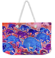 Elephants Weekender Tote Bag by Jane Tattersfield