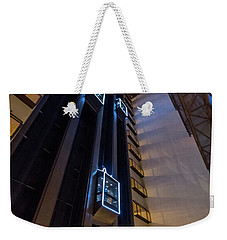 Weekender Tote Bag featuring the photograph Elevated by Randy Scherkenbach