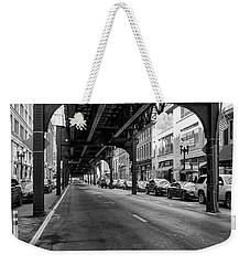 Elevated Train Track The Loop In Chicago, Il Weekender Tote Bag