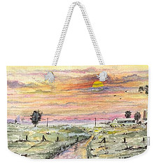 Weekender Tote Bag featuring the digital art Elevator In The Sunset by Darren Cannell
