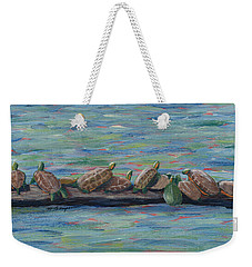 Eleven Turtles Weekender Tote Bag