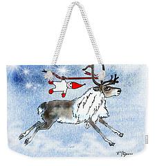 Elf And Reindeer Weekender Tote Bag