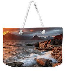 Elgol Stormy Sunset Weekender Tote Bag by Grant Glendinning