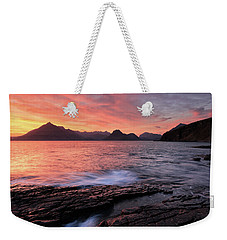 Weekender Tote Bag featuring the photograph Elgol Sunset - Isle Of Skye 2 by Grant Glendinning