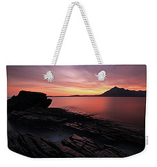 Weekender Tote Bag featuring the photograph Elgol Sunset - Isle Of Skye by Grant Glendinning