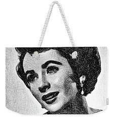 Elizabeth Taylor, Vintage Actress By Js Weekender Tote Bag