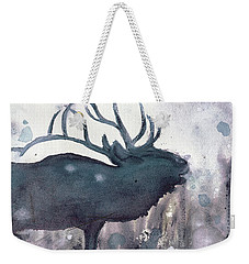 Weekender Tote Bag featuring the painting Elk by Dawn Derman