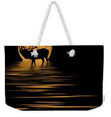 Elk In The Moonlight Weekender Tote Bag