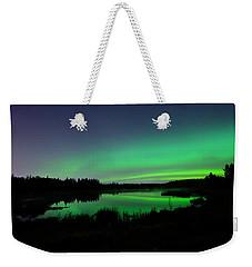 Elk Island Aurora Reflections Weekender Tote Bag