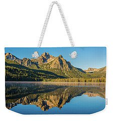 Elk Mountain Reflections With Merganser Ducklings Weekender Tote Bag by Brenda Jacobs