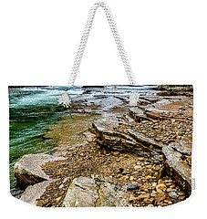 Weekender Tote Bag featuring the photograph Elk River In The Rain by Thomas R Fletcher