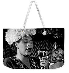 Ella Fitzgerald Dizzy Gillespie And Ray Brown William Gottlieb Photo Nyc 1947-2015 Weekender Tote Bag