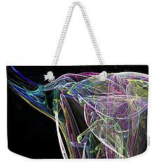 Elle-phant In Black Weekender Tote Bag
