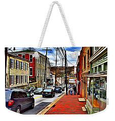 Ellicott City Sidewalk Weekender Tote Bag