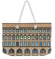 Weekender Tote Bag featuring the photograph Ellicott Square Building Buffalo Ny Ink Sketch Effect by Rose Santuci-Sofranko
