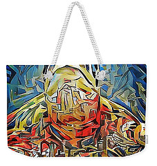 Weekender Tote Bag featuring the digital art Ellis The Turtle by Erika Swartzkopf