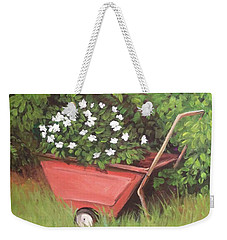 Eloise's Garden Cart Weekender Tote Bag