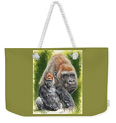 Weekender Tote Bag featuring the painting Eloquent by Barbara Keith