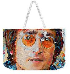 John Lennon Portrait Impasto Weekender Tote Bag