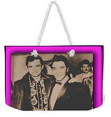 Elvis And Johnny Weekender Tote Bag
