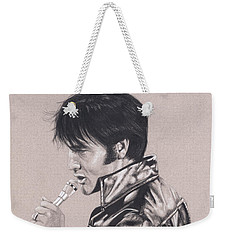Elvis In Charcoal #177, No Title Weekender Tote Bag