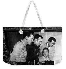 Elvis, Jerry Lee, Johnny Cash Sun Studio Memphis  Weekender Tote Bag