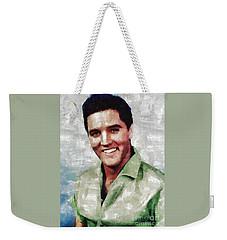 Elvis Presley By Mary Bassett Weekender Tote Bag