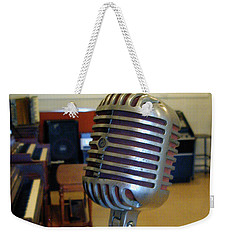 Weekender Tote Bag featuring the photograph Elvis Presley Microphone by Mark Czerniec