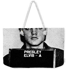 Elvis Presley Mug Shot Vertical 1 Wide 16 By 20 Weekender Tote Bag