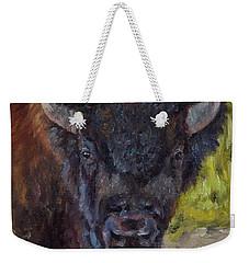 Elvis The Bison Weekender Tote Bag by Lori Brackett