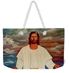 Emanuel Goes To His Father Weekender Tote Bag by Manuel Sanchez