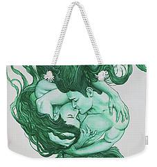 Embracing Mermen Weekender Tote Bag