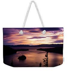 Emerald Bay Sunrise - Lake Tahoe, California Weekender Tote Bag