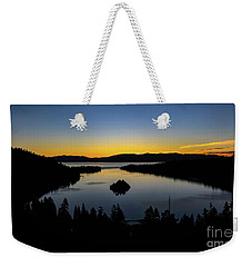 Weekender Tote Bag featuring the photograph Emerald Bay Sunrise by Mitch Shindelbower