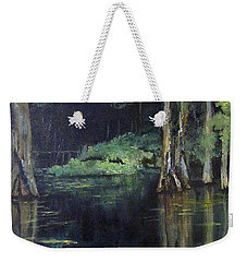 Emerald Bayou Weekender Tote Bag