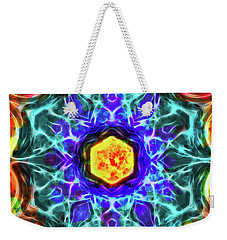 Emerald Circle Mandala Weekender Tote Bag