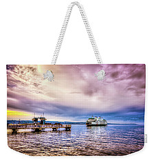 Weekender Tote Bag featuring the photograph Emerald City Ferry by Spencer McDonald