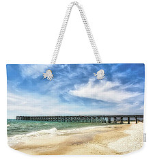 Weekender Tote Bag featuring the photograph Emerald Coast Dreams by Mel Steinhauer