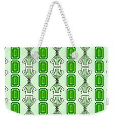 Emerald Deco Stripe Weekender Tote Bag by MM Anderson